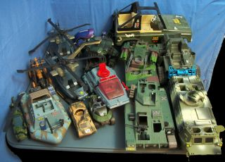 Large Lot of Gi Joe Vehicles G I Joe Tanks Helicopters Jeep More