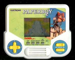 1990s Tengen Paper Boy 2 Tiger Electronic Handheld Pocket LCD Arcade Video Game