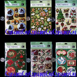 K Company Merry Chistmas Cardinal Holidays Snow Globes One New Stickers Pack