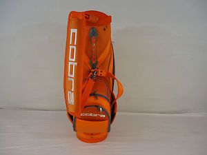 "New King Cobra 10"" Staff Golf Bag Orange Golf Bag New with Tags Rickie Fowler"