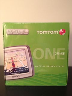 TomTom One 125 SE USA Maps Automotive Mountable GPS Unit New in Box