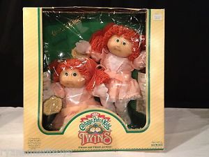 BNIB Cabbage Patch Kids Twins Red Hair Green Eyes Girls Limited Edition RARE