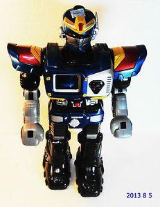 """2002 Large 15"""" Happy Kids Hap P Kid Toy Electronic Talking Walking Blue Robot"""