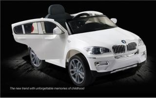 New 2014 Licensed BMW x6 Kids Ride on Power Wheels Battery Toy Car White