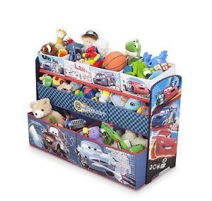 Disney Cars Multi Bin Toy Organizer Storage Box for Kids Toddlers Furniture Room