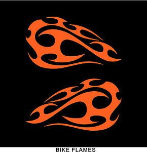 Bike Flames Decals for Motorcycle Tank Graphics Design Orange Flames Vinyl Decal