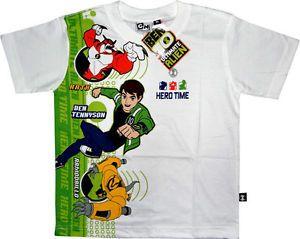 Ben 10 Kids Boys Childrens Ben Ten White Cotton T Shirt Shirts Clothes Toys