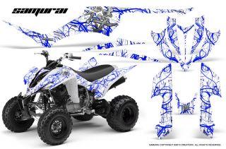 Yamaha Raptor 350 Graphics Kit Creatorx Decals Stickers Samurai BLW