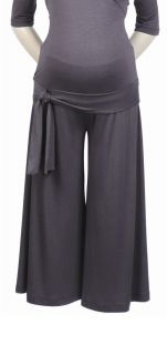 New Japanese Weekend Maternity Sexy Gray Gauchos Pants XS 2 4