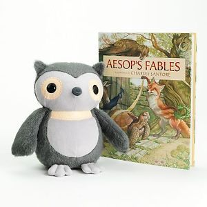 New Kohls Cares Kids Owl And Aesops Fables Book Plush Stuffed Animal