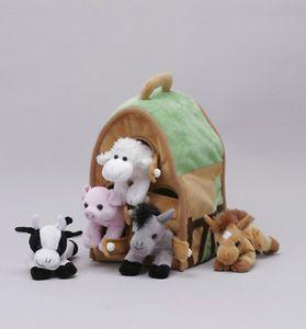 "New Unipak Designs Toy 12"" Farm House Plush Stuffed Animal Barn Children 7166FA"