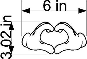 Hand Hearth Mouse Sticker Decal Auto Car Truck Window Notebook Wall Art Mickey