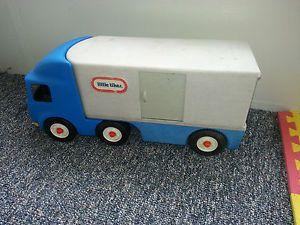 Little Tikes Semi Truck Trailer Car Hauler Toy Blue Great for Kids