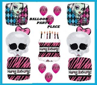 Monster High Hot Pink Zebra Birthday Party Balloons Supplies Skullette Decorate