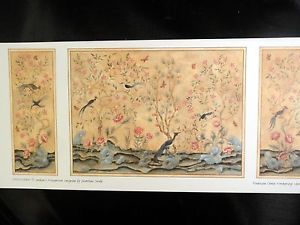 Half inch Scale Chinoiserie Panel Wallpaper 2 Pcs