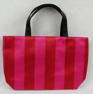 Victoria Secret 2011 Black Friday Mini Tote Bag Pink Red Stripe Purse Handbag