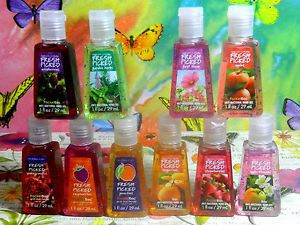 10 Bath Body Works PocketBac Fresh Picked Fruits Collection Hand Sanitizer Gel