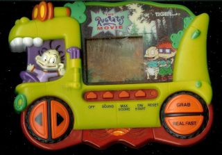 1990s The Rugrats Movie Tiger Electronic Handheld Toy Game Chuckie Tommy Reptar