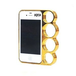 Brass Knuckle Case Cover Bumper Gold Style for iPhone 5 5g Side Rim Hard Plastic