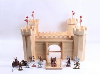 Wood Wooden Castle Model Kit for Kids Large Wooden Toy