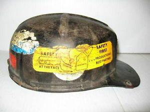 MSA Vintage Safety Hard Hat Coal Mining Miner Construction Head Protection