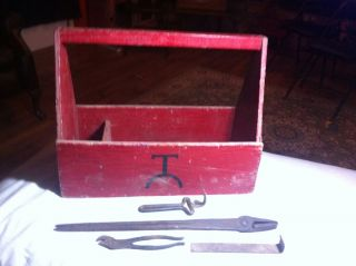 Farrier Supplies Assorted Forging Tools and Wood Box