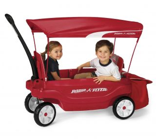 Radio Flyer Wagon Comfort Ultimate Red Toy Kids New 2 Children Ride Canopy New