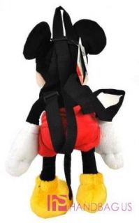 Licensed Disney Mickey Mouse Large 17 inch Plush Doll Toy Backpack Kids Bag