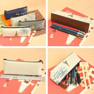 1pc Classic Nostalgic Restoring Pencil Pen Case Cosmetic Makeup Bag Gift 4 Style
