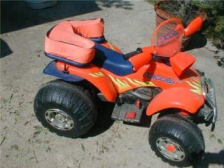 Peg Perego Corral 270 Red Quad ATV Kids Ride on Toy 12 Volt Rechargable w Adapt