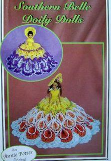 Crochet Southern Belle Doily Dolls 2 Sizes Annie Potter Original Patterns