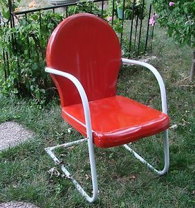 Vintage Found Brand New in Montgomery Wards Box Metal Tulip Porch Patio Chair