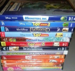 cd62f8c57f4c ... Lot of Kid Disney Dreamworks DVD Toy Story Trilogy Lion King Bolt  Monster Inc  New Shrek ...