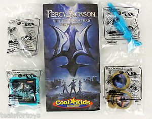 Percy Jackson Sea of Monsters Carls Jr Kids Meal Toy Figure Complete Set Lot New