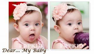 Baby Toddler Kids Girls Princess Hairband Hair Flower Bow Accessories 0 3 4 Year