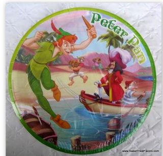 Peter Pan Tinkerbell Party Plates x6 Supplies Birthday Fairy Decoration Lunch NW
