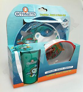 Kids Octonauts Peso Tumbler Kwazii Bowl Barnacles Plate Dinner Set Gift New