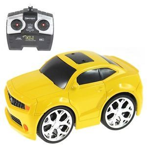 Mini RC Car Yellow Chevrolet Mustang Radio Control Vehicles Cute Kid Adult Toy