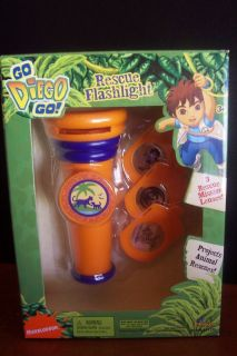 Go Diego Go Rescue Projector Flashlight 3 Rescue Missions Lenses New
