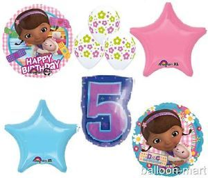 Doc McStuffins Party Decorations Balloons Birthday Supplies 5th Fifth Set New