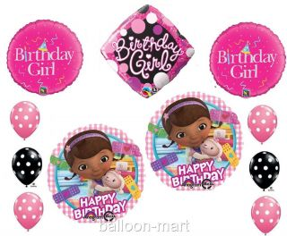 Doc McStuffins Balloons Girls Birthday Party Set Decorations Supplies Polka Dot
