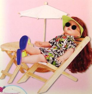 """Gigo Lawn Set Summer Relaxing for Baby Face 18"""" Dolls"""