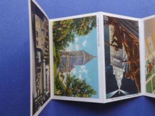Ohio Postcard Fold Out Souvenir Booklet Cleveland Airport Bridge Park Stadium