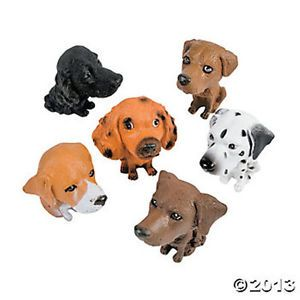 12 Big Head Puppy Dogs Dozen Kids Theme Party Favors Cake Toppers