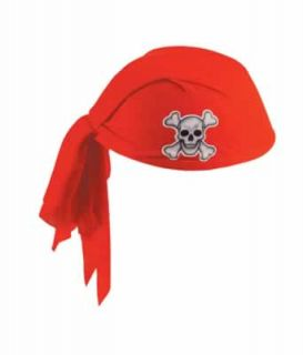 Pirate Theme Party Red Head Scarf Hat Fancy Dress