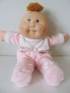 Vintage 1986 80's Cabbage Patch Kids Babies Doll Bean Butt Baby Powder Scent