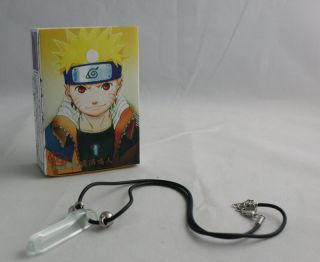 Naruto Headband First Hokage Tsunade Crystal Necklace Green White Blue Cosplay