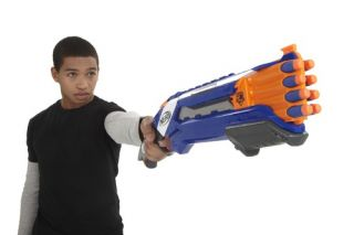 New Hasbro Kids Nerf N Strike Elite Rough Cut 2x4 Soft Foam Dart Gun Blaster UK