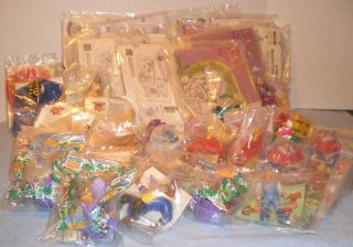 Mixed Lot Burger King Kids Club Toys Kid Vid Disney Toontown Land Before Time