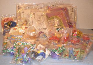Mixed Lot Burger King Kids Club Toys Kid Vid Disney Toontown Land Before Time